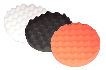 Foam Buffing Polish Waffle Compound Kit X3 HEADS
