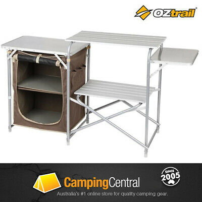OZtrail Camping Camp Kitchen SINGLE PANTRY Table *BRNEW