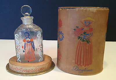 Antique Hand Painted Perfume Bottle Shulton Early American Old Spice Miniature