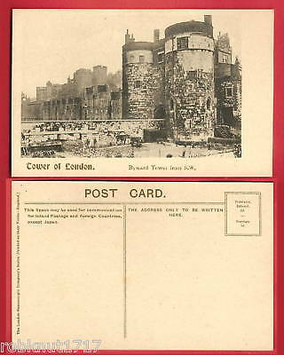 CPA old postcard Byward Tower of LONDON Tour de Londres Angleterre A
