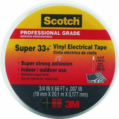 "100 Pk 3M Scotch Black Vinyl Plastic Electrical Tape 3/4"" X 66' X 7Mil 06132"