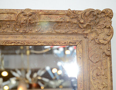 Large Elaborate Vintage Gilt Wood Frame (with mirror), late 19th C to early 20th