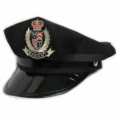Octagon Yacht Captain Skipper Sailor Boat Police Sheriff Hat Cap Party Costume