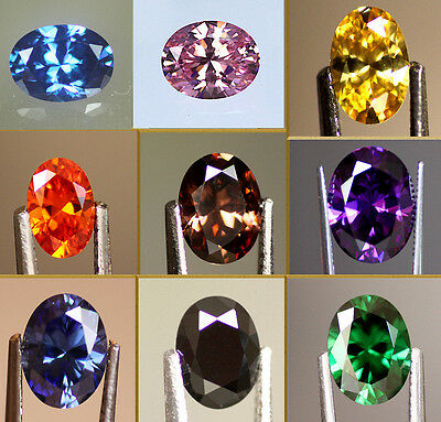 5A Oval Cut Cubic Zirconia Colour & Size Choice, Pink, Yellow, Black