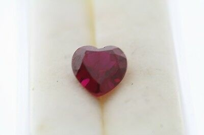 2.27ct Heart Cut Loose Lab Created Ruby 8.0 x 8.0mm