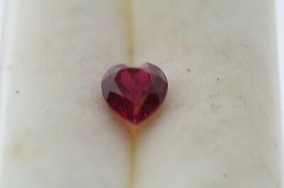 0.56ct Heart Cut Loose Lab Created Ruby 5.0 x 5.0mm