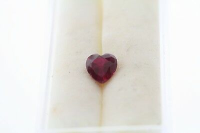 0.97ct Heart Cut Loose Lab Created Ruby 6.0 x 6.0mm