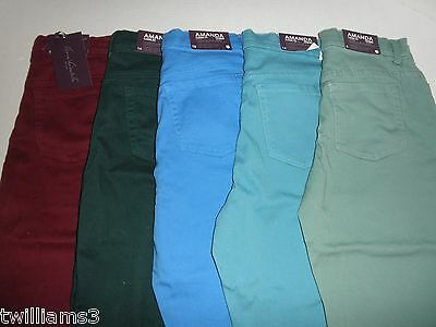 NWT  Ladies Gloria Vanderbilt Amanda pants Colored 5 pocket Jeans:
