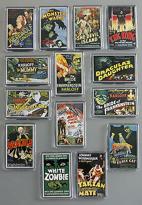 Old Sci Fi and Horror Movie Posters reproduced as Fridge Magnets - some Classics