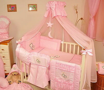 BABY cot/cot bed CANOPY DRAPE/MOSQUITO NET- 485cm WIDTHcovers4sides + holder