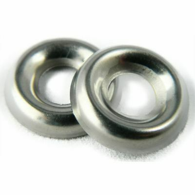 """Stainless Steel Cup Washer Finishing Countersunk 1/4"""" Qty 100"""