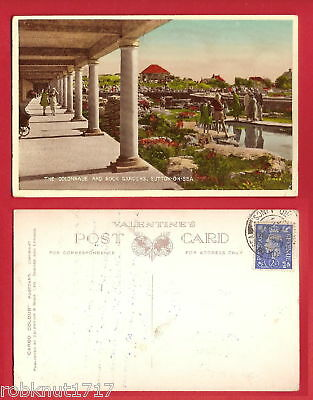 CPSM Valentine postcard Colonnade and Rock Gardens SUTTON ON SEA Angleterre A