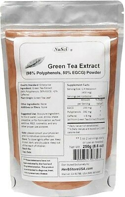 Nusci pure Green Tea Extract 98% Polyphenols 50% EGCG 250g (8.8oz)