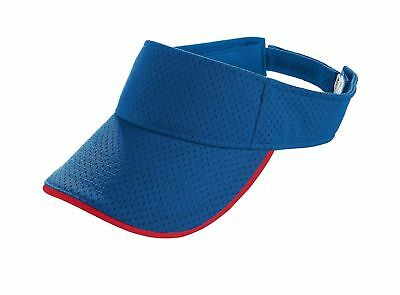 Augusta Sportswear Youth Three Panels Athletic Mesh Two Color Visor. 6224