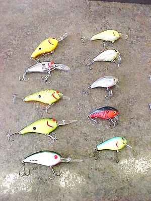 F1 Lot of Awesome fishing lures crank bait baits bomber fat free shad & others