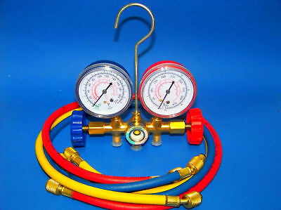 R12 R22 R502 Manifold Gauges Set A/C Tester Service Diagnostic air conditioning
