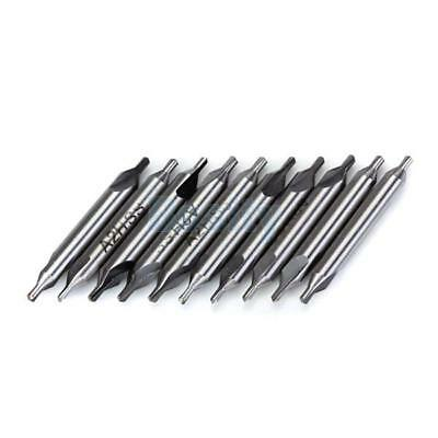 10pcs 2.0mm Combined Center Drill Countersinks 60° Degrees High Speed Steel