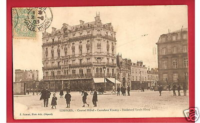 CPA postcard Central HOTEL Carrefour Tourny Boulevard Louis Blanc LIMOGES 87 A