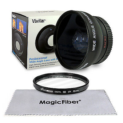 58MM Wide Angle Macro Lens for Canon EOS Rebel T5i T4i T3i T2i T1i Xsi 18-55mm