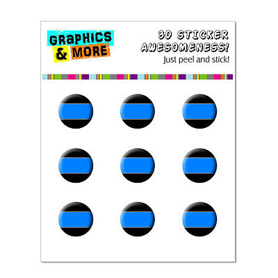 Thin Blue Line - Police - Home Button Stickers Fit Apple iPhone 3G 3GS 4 4S 5