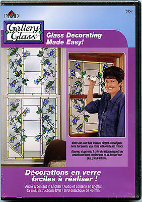 Plaid Gallery Glass Paint - Glass Decorating Made Easy DVD #16350 by Carol Smith