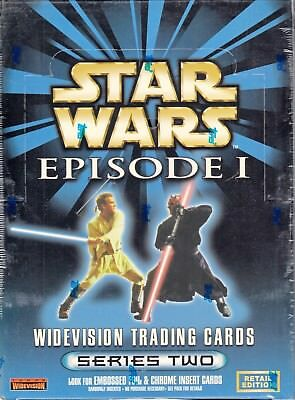 Star Wars Episode 1 Series 2 Widevision Retail 1999 Topps Trading Card Box Of 36