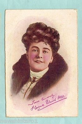 #A.  1909 Australian Theatre Royal Postcard, The Bondman, Female Actress