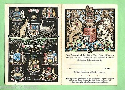 #d27. Souvenir School Momento Of 1952 Royal Visit Princess Elizabeth