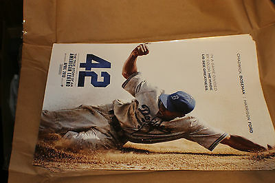 """42 Jackie Robinson Movie Poster-One-sided, full-color poster measures 11""""x 17"""