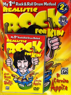 Realistic Rock for Kids Drum Book/DVD/2CD Set Tutor Method by Carmine Appice