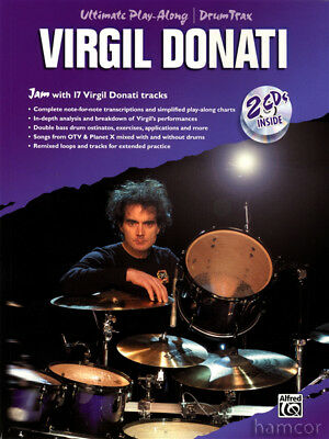Virgil Donati Ultimate Play-Along Drum Trax Book & 2CDs Jam with 17 Tracks