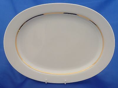 "A Thomas White With Thick Gold Line 13"" Oval Serving Platter"