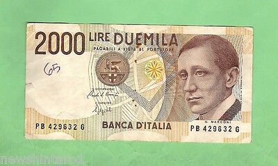#d7. World Banknote - Italy 2000 Lire