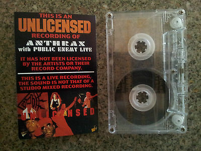 Anthrax With Public Enemy Live - Cassette Tape Vgc