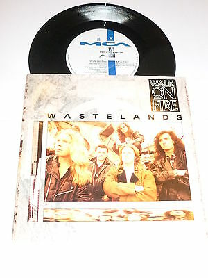 "WALK ON FIRE - Wastelands - 1990 UK 7"" vinyl single"
