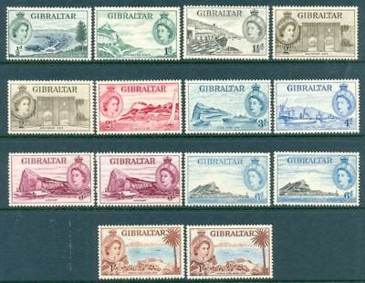 Gibraltar 1953 Qeii Definitives. Pt Set To 1/- Lhm (Id:457/D19206)
