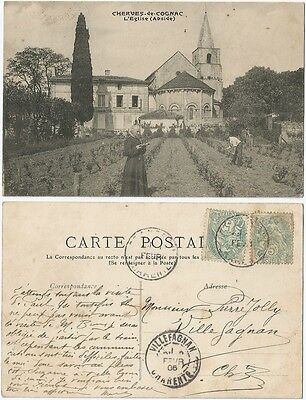 CPA Church Curé Abside L'Eglise CHERVES de COGNAC RICHEMONT 16 Charente [835 R]