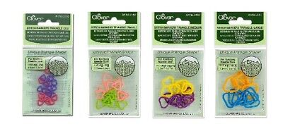 Clover Triangle Stitch Markers Knitting Craft SELECT YOUR SIZE!