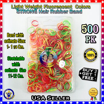 500 Small Multi Color Mix Ponytail Elastic  Hair Rubber Bands MULTIPLE USE NEW