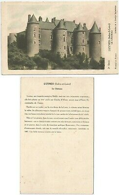 CPA Collection Solution Pautauberge postcard Château  LUYNES 37 A