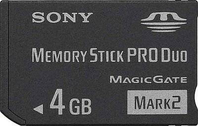 Sony 4GB Memory Stick PRO Duo Mark 2 MSPD 4G for PSP Camera Camcorder MS-MT4G