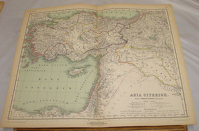 1892 Antique COLOR Map/NEAR ASIA (Asia Citerior) As Known to the Ancients