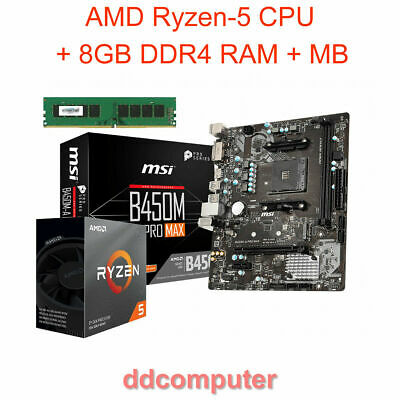 AMD A6-7400 3.9GHz CPU Built-in Radeon Graphics MB 4GB RAM HDMI DVI VGA for PC