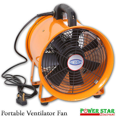 Extractor Fan Portable Ventilator Industrial Air Axial Metal Blower Workshop