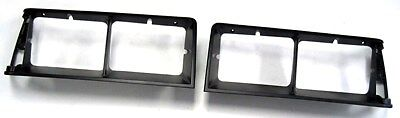 1984-87 Buick Regal / Grand National Black Headlamp / Light Bezels - Pair #312