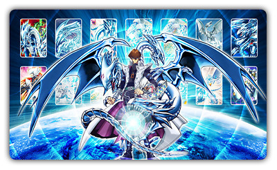 G069 Free Mat Bag Seto Kaiba Blue-Eyes White Dragon Custom YUGIOH TCG Playmat