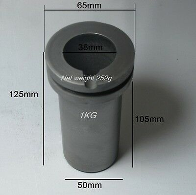 1kg High Purity Graphite Crucible for Melting Furnace  for Gold & Silver 1pc US
