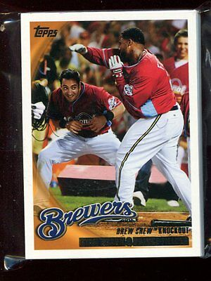 #237 Ryan Braun/Prince Fielder - 24 count lot MINT cards - 2010 Topps - Brewers