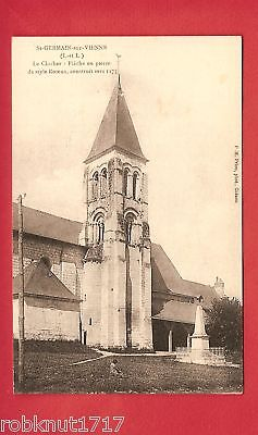 CPA postcard Church Eglise Clocher SAINT GERMAIN SUR VIENNE 37 A