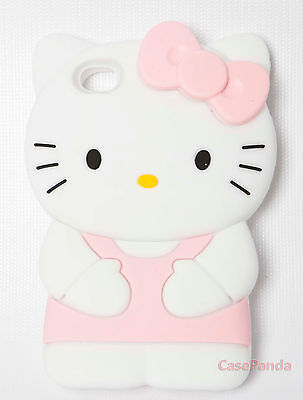 NEW 3D CUTE HELLO KITTY SOFT SILICONE CASE FOR IPHONE 4/4S & IPHONE 5 FAST SHIP
